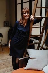Robe Portefeuille Bleu Femme Taille 3 - Scottage