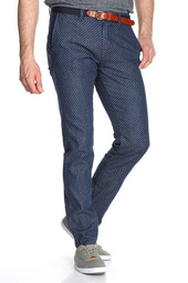 Pantalon Chino En Denim Jacquard