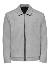 Only & Sons Courte Laine Veste Men Grey
