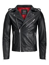 Jack & Jones Terminator Veste En Cuir Men Black