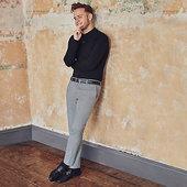 River Island Olly Murs - Pantalon Super Skinny Noir à Carreaux