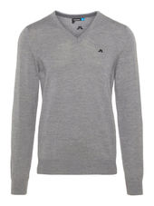 J.lindeberg Lymann Tour Merino Knitted Pullover Men Grey