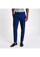 River Island Pantalon De Costume Skinny Bleu Vif