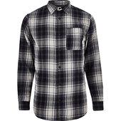 River Island Jack& Jones - chemise à Carreaux Bleu Marine
