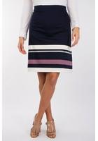 Jupe En Satin De Coton Bleu Femme Taille 44 - Scottage