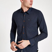 River Island Pepe Jeans - Chesterfield - Chemise Bleue