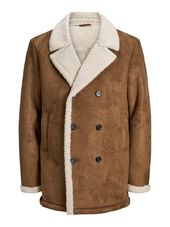 Jack & Jones Double Boutonnage Shearling Trench Men Brown
