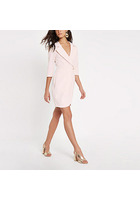 River Island Mini-robe Portefeuille Moulante Rose Clair