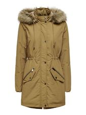Only Longue Parka Women Brown