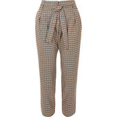 River Island Pantalon Fuselé Petite à Carreaux Marron