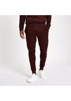 River Island Pantalon De Jogging Ajusté «r96» Rouge Foncé