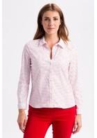 Chemise à Pois Rouge Femme Taille 6 - Scottage