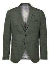 Selected Coupe Slim Laine Mélangée - Blazer Men Green