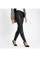River Island Molly - Jegging Noir Enduit