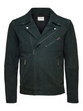 Selected Daim - Veste En Cuir Men Green