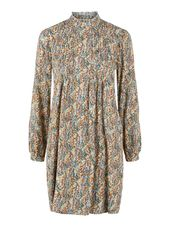 Y.a.s Printed Short Dress Women Beige
