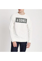 River Island Only & Sons - Sweat Blanc