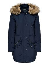Only Longue Parka Women Blue
