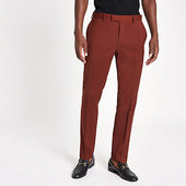 River Island Pantalon De Costume Skinny Stretch Rouille