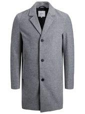 Jack & Jones Garçons Col À Revers Cranté Manteau Men Grey