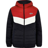 River Island Jack & Jones Originals - Manteau Matelassé Color Block Rouge