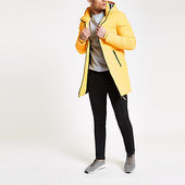 River Island Only & Sons - Doudoune Jaune Longue