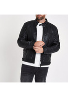 River Island Big And Tall - Veste De Pilote En Cuir Synthétique