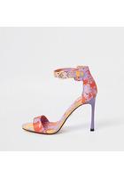 River Island Sandales Violettes Minimalistes à Fleurs