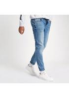 River Island Ryan - Jean Bleu Mi-délavé Style Pantalon De Jogging