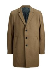 Jack & Jones Laine Recyclée Mélangée Manteau Men Beige