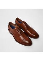 River Island Chaussures Oxford En Cuir Fauve à Bout Rapporté Et Lacets
