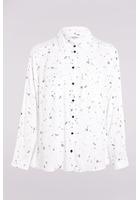 Chemise Imprimée Blanc Femme Taille 6 - Scottage