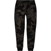 River Island Criminal Damage - Pantalon De Jogging à Imprimé Baroque Noir