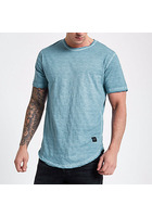 River Island Only & Sons - T-shirt Bleu Texturé