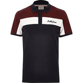 River Island Jack & Jones - Polo Colour Block Bleu Marine