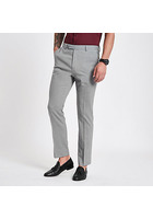 River Island Pantalon De Costume Gris Clair Coupe Slim