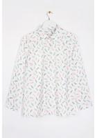 Chemise Imprimé Lunettes Blanc Femme Taille 5 - Scottage