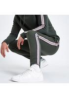 River Island Pantalon De Jogging Slim Kaki Avec Bande Latérale
