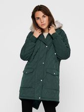 Only Matelassée Parka Women Green