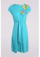 Robe Détail Noeud Bleu Femme Taille 3 - Scottage