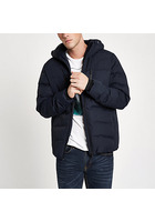 River Island Manteau Matelassé Jack & Jones Technique Bleu Marine