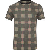 River Island T-shirt Ajusté à Carreaux Marron