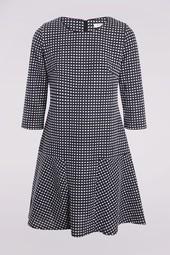 Robe En Jacquard Bleu Femme Taille 1 - Scottage
