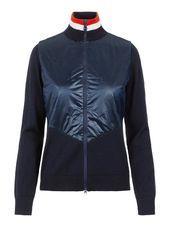 J.lindeberg Luna Knitted Hybrid Veste Women Blue