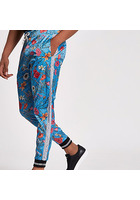 River Island Jaded - Pantalon De Jogging En Satin à Fleurs Bleu
