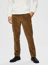 Selected Velours Côtelé Stretch Pantalon Men Beige