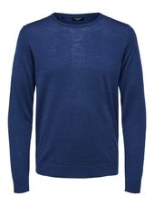 Selected Laine Mérinos - Pull Men Blue