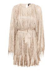 Vero Moda Franges, Manches Longues Mini-robe Women White