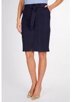 Jupe Droite Bleu Femme Taille 44 - Scottage