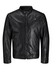 Jack & Jones Minimaliste Veste En Cuir Men Black